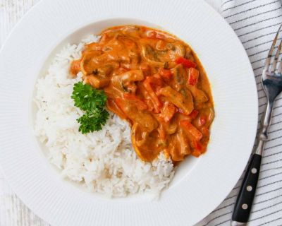 Einfaches Paprika Curry