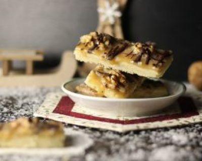 Walnuss-Toffee-Shortbread
